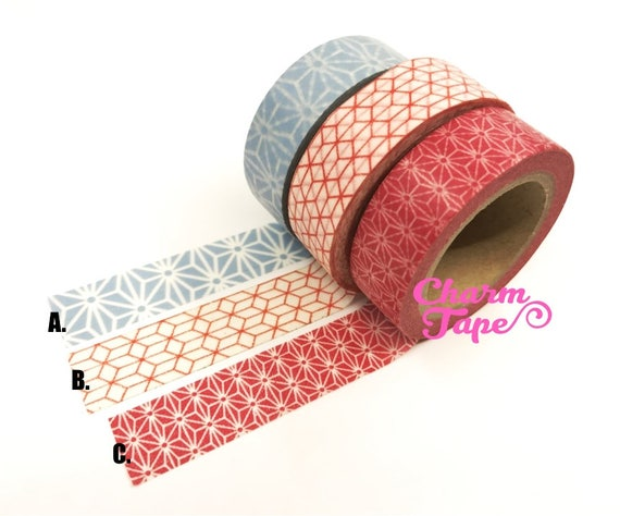 Large geometric washi tape 15mm x 10 meters wt237 from for Geometric washi tape designs
