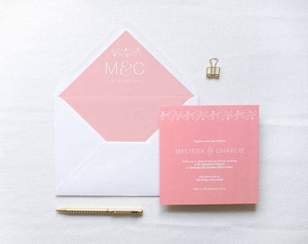 ADD ON: Envelope Liner | Charlotte Wedding Stationery Collection | Floral Hand Lettered Wedding Stationery