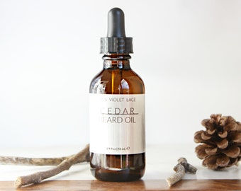 Cedar Beard Oil | Conditioning Oil for Men | 100% natural and vegan
