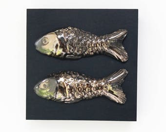 ceramic fish etsy