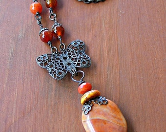 Sunset Butterfly Necklace