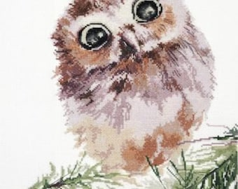 NEW Unopened Russian Counted Cross Stitch Kit OVEN 956 Amazement owlet