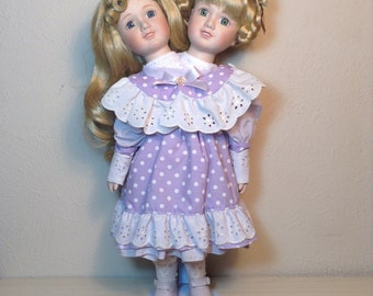 Siamese Twins in Purple