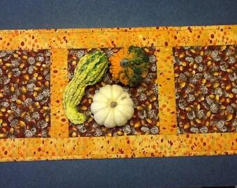 Quilted Thanksgiving Table Runner, Autumn Table Topper, Harvest Table Runner, Quiltsy Handmade