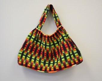 Vintage Knitted Hobo Bag
