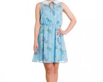 Brand New Cute Kitsch Retro Underwater Sea Print Mini Dress
