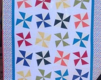Pinwheel kids quilt