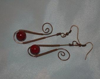 Red Jasper drop earrings