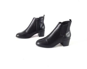 goth 90s twin peaks grunge CHELSEA womens size 7 8 PLATFORM chunky heel shoes