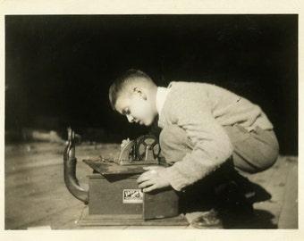 "Vintage Photo ""They Call Him Mr. Fix It"" Snapshot Antique Photo Old Black & White Photograph Found Paper Ephemera Vernacular - 75"