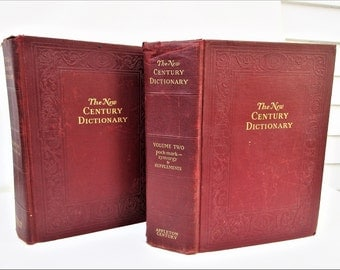 Vintage Dictionary | Set of Dictionaries | Large Decorative Books | English Dictionary | 1940s Dictionaries