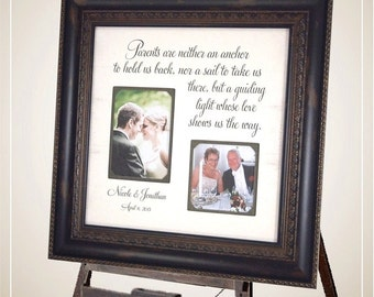 Wedding Picture Frame, Parents of the Bride, Parents of the Groom, personalized wedding gift, custom photo frame, Personalized Frame, 16x16