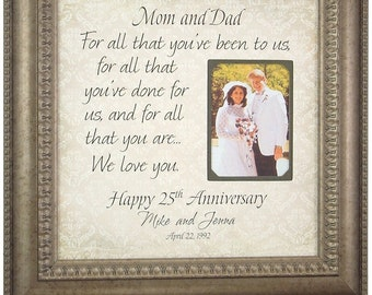 Parents Anniversary Gift, 10th Anniversary Gift, 25th Anniversary Gift, 50th Anniversary Gift, Anniversary Quote, anniversary gift. 16 X 16