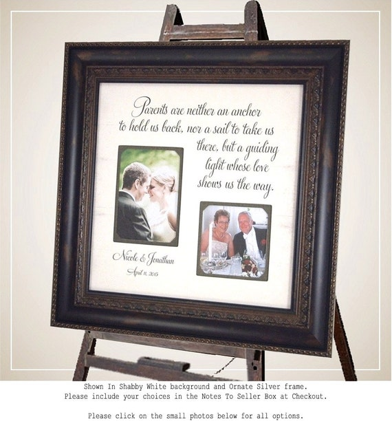 Wedding Picture Frame Parents Of The Bride Parents Of The