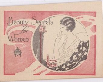 Beauty Secrets For Women- 1910s Antique Booklet- Dr. Pierce's Invalids Hotel- Medical Advertisement- Edwardian- Buffalo, NY- Paper Ephemera