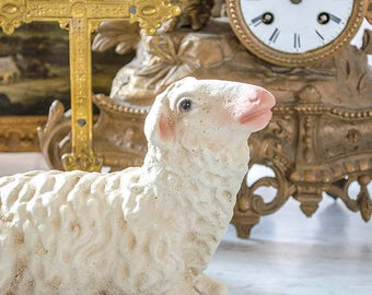 Lamb Nativity Statue, Creche, Sheep