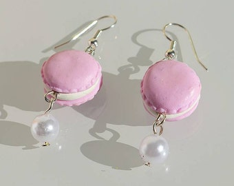 Strawberry Macaron Earrings