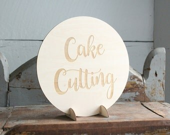 Cake Cutting Sign Wedding Cake Table Decor