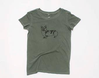 Corgi Shirt, Soft Tshirt, Yoga Tee, Dog Lover, Gym Tee, S,M,L,XL