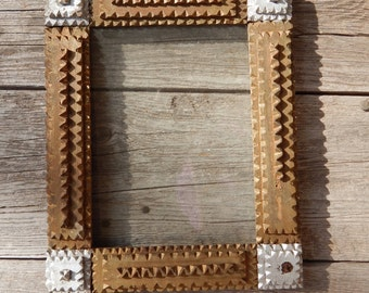 Tramp Art Wood Picture Frame