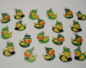 23pc lot St. Patrick's Day Duck enamel charms great for jewelry making earrings, bracelets, necklaces DIY