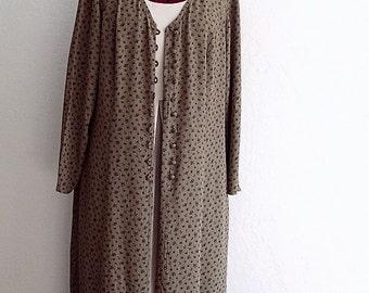Sale Classic Ecru Maxi Duster Dress #KheGreen #Eco Fashion