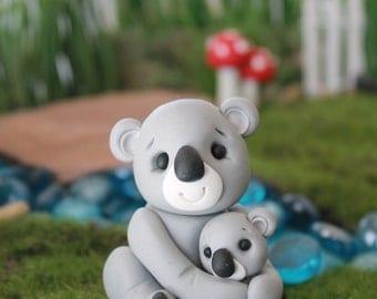 Polymer Clay Koala - Miniature Koala - Mini Clay Koala - Fairy Garden Accessory - Terrarium Accessory – Moose Sculpture – Garden Decoration