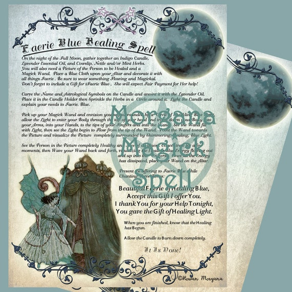 The Blue Faerie Healing Spell