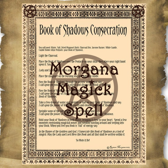 Book of Shadows Consecration