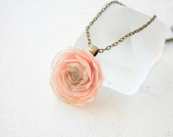 Pink Succulent Planter Necklace Pendant 3,5 cm Wholesale Mini Succulent Plants Succulent Jewelry Wedding Bridal Birthday Gifts