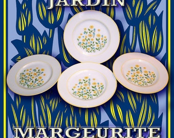 """Margeurite by Jardin  7-1/2 """"Plates"""