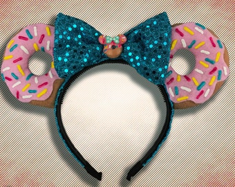 The Original Donut Mouse Ear Headband with Bow