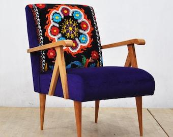 Wooden Armchair -  purple love