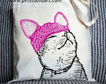 Pussycat in a Pussy Hat - Eco-Friendly Tote Bag