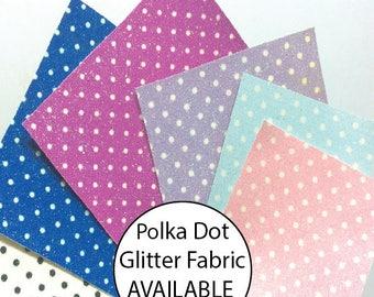 Polka Dot Fine Glitter Fabric SHEET