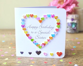 Sister birthday card | Etsy