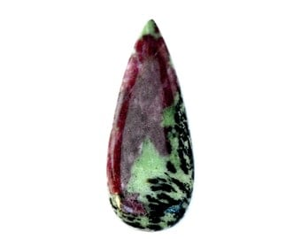 Ruby Zoisite Cabochon Stone (46mm x 18mm x 5mm) 40.5cts - Drop Cabochon