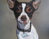 Custom Pet Portrait - Custom Dog Portrait Painting - Dog Lover Gift Idea - Original Arcylic Painting - various canvas sizes available