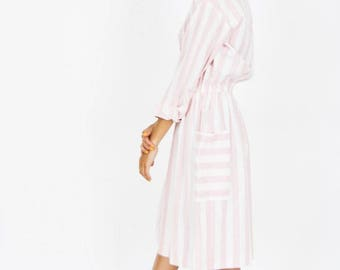 80s Cotton Candy Striped Shirt Dress