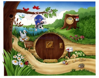 ORIGINAL WATERCOLOR PAINTING for children's book