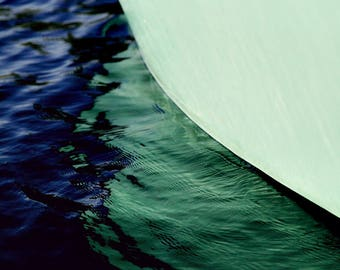 nautical decor, boat photography, abstract sailboat art photograph, maine art - Hull, photography art print