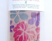 Aromatherapy Eye Pillow from Vintage Japanese Silk Kimono Fabric - French Lavender & Flax Seed