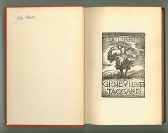 Selected Poems of William Vaughn Moody, with Personal Bookplate of Leftist Feminist Poet Genevieve Taggard, Vintage Poetry Book, circa 1935