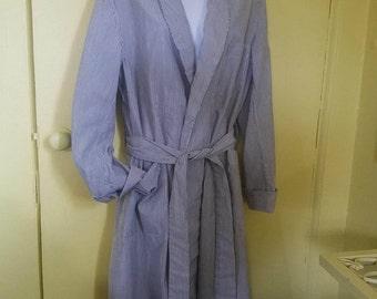 Vintage Marshall Fields Seersucker Robe