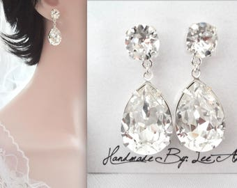 Crystal earrings, Swarovski Crystal earrings, Crystal earrings, Brides earrings, Bridesmaids earrings, Crystal wedding earrings, SOPHIA