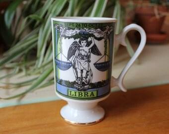 Vntg Libra Coffee Mug Gift Royal Crown