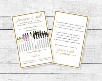 Bridal Party Wedding Program, 2-sided, Letterhalf, 5.5x8.5 Wedding Program