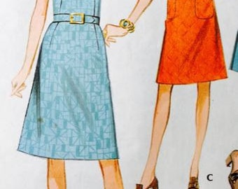 Vintage McCalls 2740 Women's dress in three versions