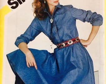 Simplicity 5492 Fast and Fabulous Shirtdress