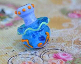 Hanukkah Dreidel. Glass bead. Menorah Spin top Judaica for Hanukkah. Wearable art. Jewish holiday gift, make my own necklace, Made In Israel